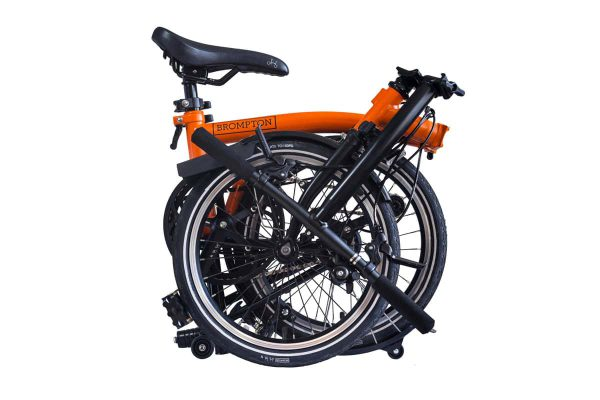 brompton-h6l-Orange-black-folded